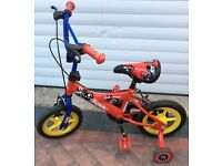 Kids Bike Sonic Kap-Pow Boys Red/Blue, 8 inch frame LEG 14-17 inches and for ages 3-5 years