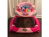 Baby Girl Pink Car Walker