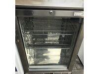 Lec undercounter glass door drink chiller fridge