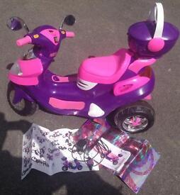 Ride on child's motorbike