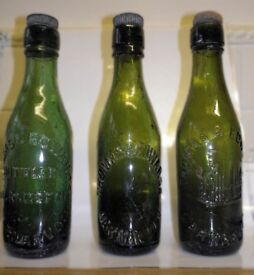 OLD GREEN BEER BOTTLES
