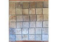 Travertine Mosaic tiles and protector
