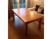 Solid Wood Dining Table - Seats 6 to 8 People. Very Good Condition