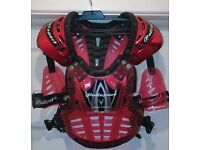 Motocross Body Armour Red - Youth - Polisport Red Model XP1