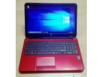 "Red HP Pavilion 15.6"" Laptop Intel Core i5 6GB RAM,1000GB HDD, Win10"