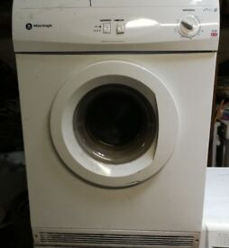 WHITE KNIGHT 6KG VENTED TUMBLE DRYER IN GOOD WORKING ORDER
