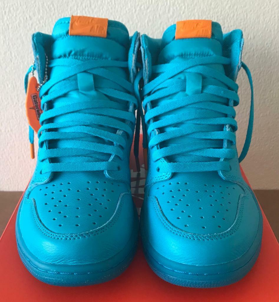 e58b9140aa3 Nike Air Jordan 1 Retro High OG  Cool Blue  UK 9.5 - AJ5997 455 Gatorade