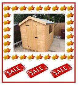 12x6 Apex £619.00 HIGH QUALITY x16mm T&G (FREE DELIVERY AND INSTALLATION) ALL SIZES AVAILABLE