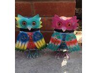 Hand made Owl Tea light holders