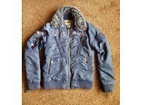 Khujo designer men jacket. Blue colour. Good condition.small size