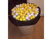 golf balls - 621 - driving range - used