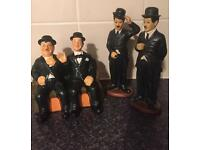 Collectible vintage - laurel and hardy figures - all included in price