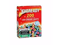 * Xmas Bargain Quality 200 Led Xmas lights, Indoor or Outdoor with controller, Boxed brand New £8.50