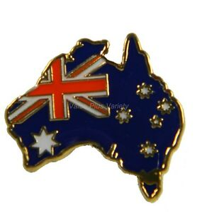 Australian Souvenir Enamel Australia Flag Map Hat Pin Lapel Badge #Pin34