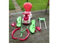 Chicco Quattro Car Sit n Ride 4-in-1 Toy Car Pink