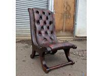 Chestefield slipper chair