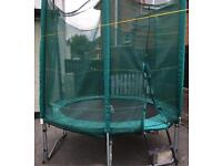 8ft trampoline with safety enclosure
