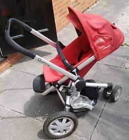 Red quinny buzz pushchair stroller