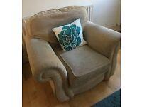 Natural Sofa and Armchair