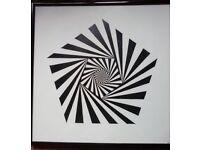 FREE Black & White Infinity Photo in Frame 31cm Square