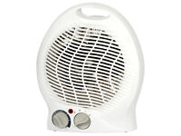 Igenix IG9020 FH-0068 2kW 2000W Upright Desk Fan Heater White Hot Cold Boxed New