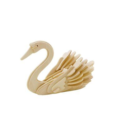 Swan Bird DIY 3D Wooden Puzzle, Natural, 4-1/2-Inch