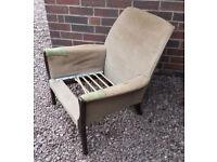 Vintage Parker Knoll wooden armchair - needs upholstering