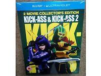 New & Sealed Kick-Ass & Kick-Ass 2 Collectors Edition Blu Ray UK