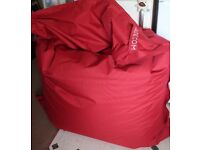 "MADE large bean bag - Red ""Piggy bag"" RRP £79 - Haggerston"