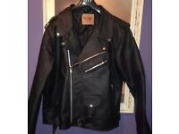 leather bikers style jacket new never worn
