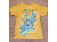 Brand new vintage Ed Hardy men's T-shirt. Yellow. Death Or Glory design. Large