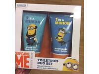 Men's minions toiletries gift set
