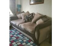 DFS Two seat Sofa and 1 seat Arm Chair