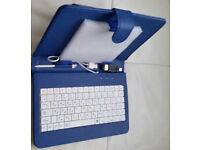 """NEW 7"""" Inch Cover For Android Tablet PC Case USB Keyboard With Stand. Make a good christmas pressy"""