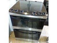 Black, Zanussi ZCV680TCXA 60cm Electric cooker fan oven, Grill, Ceramic Hob