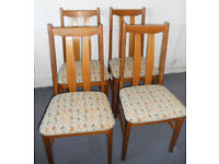 Four Hardwood Dining Chairs - £40 for the four