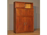 Attractive Large Vintage Oak Minty Sectional Stacking Bureau Bookcase Cabinet