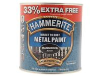3 New Tins Hammerite Hammered Black Paint, 3x1 Litre