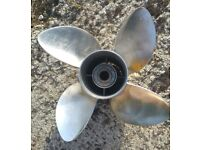 """Outboard Propellor - Suzuki 4 Blade Stainless Steel 15 1/4"""" dia x 20"""" Pitch"""