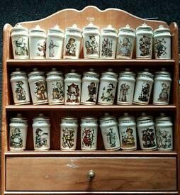 Hummel spice jars and rack