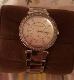 Michael Kors Mini Parka Silver Watch