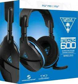 Turtle Beach Earforce Stealth 600 wireless headset for PS4/PS4 Pro as new boxed
