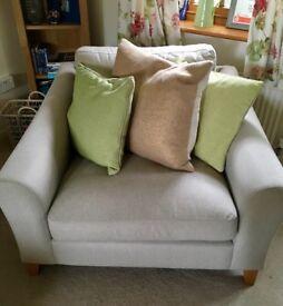 2 Laura Ashley Baslow Snuggler Sofa - like new!