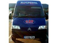 BLACKPOOL MAN AND VAN. 100% RELIABLE! FULLY INSURED! CHEAPEST AROUND! PLEASE CHECKOUT OUR REVIEWS!