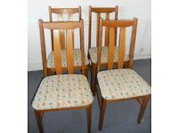 Four Hardwood Dining Chairs - £50 for the four