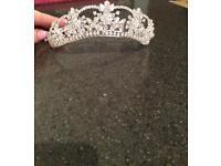 100% genuine Swarovski crystal tiara