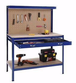VonHaus Steel Boltless Workbench Worktable Workshop Station with Drawer & Pegboard RRP £109.99!!!!