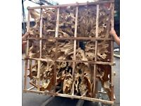 huge wood root 2m x 2m x 30 cm 200kg collection only