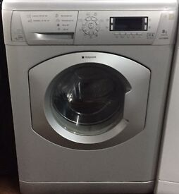 Hotpoint WMD940 8kg 1400 Spin Silver LCD Silent Washing Machine 1 YEAR GUARANTEE FREE FITTING