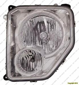Head Light Driver Side Chrome Bezel With Fog Light Round Bulb Shield High Quality Jeep Liberty 2008-2012